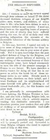 1914 WW1 week 9.2 Belgian refugees