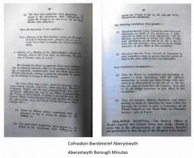 1915 WW1 week 25 Aberystawyth Borough Minutes
