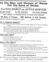 1915 WW1 weeks 33 and 34 Y.M.C.A.
