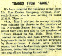 1915 WW1 week 41 CTA 07-05-15 letter of thanks