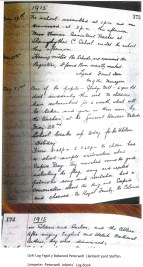 1915 WW1 week 43 Peterwell Log Book