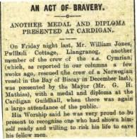 1915 WW1 week 47 CTA 16-06-15 Act of bravery