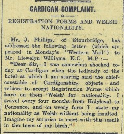 1915 week 63 CTA 8-10-15 Welsh Nationality