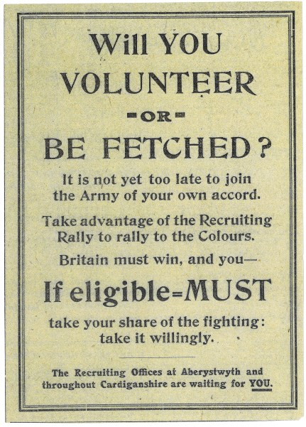 1915 week 65 CTA 22-10-15 Recruiting poster