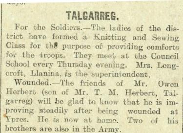 1915 week 72 CTA 17-12-15 Talgarreg