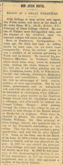 1915 week 73 CTA 24-12-15 Sir John Rhys