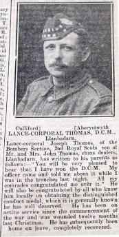 1916 week 82 CN 25-2-16 Lance-Corporal Thomas, Llanbadarn