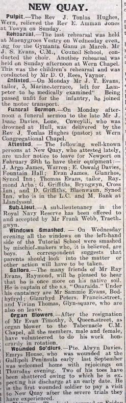 1916 week 82 CN 25-2-16 New Quay