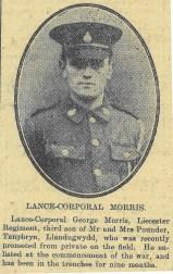 1916 week 82 CTA 25-2-16 Lance-Corporal Morris