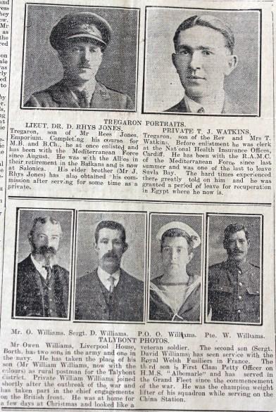 1916 week 84 CN 10-3-16 Tregaron & Talybont portraits