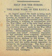 1916 week 85 CTA 17-3-16 Help for horses