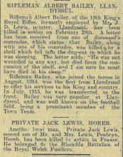 1916 week 85 CTA 17-3-16 Llandysul -Albert Bailey and Jack Lewis of Horeb