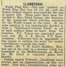 1916 week 85 CTA 17-3-16 Llandysul Red Cross