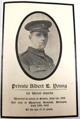 1916 Aberystwyth County School (Ardwyn) 8 Albert E Young july 10th
