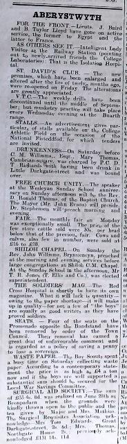 1916 week 101 CN Aberystwyth