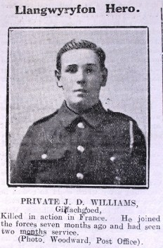 1916 week 101 CN Llangwyryfon hero