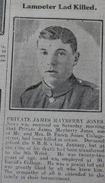 week 106 Lampeter lad killed