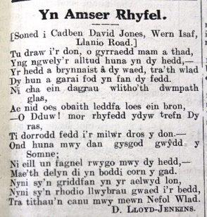 week 106 Yn Amser Rhyfel