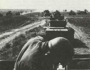 British armoured division at Caen