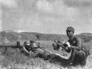 Chiang Kai-sheks's German-trained and equipped Chinese soldiers.