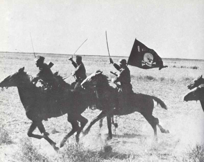 Charge of a Cossack patrol in German service.