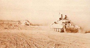 Crusader Mk I (with 2-pounder gun) tanks in North Africa