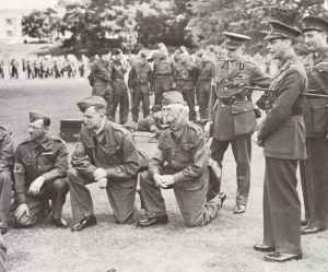 King George VI inspects men of the Home Guard