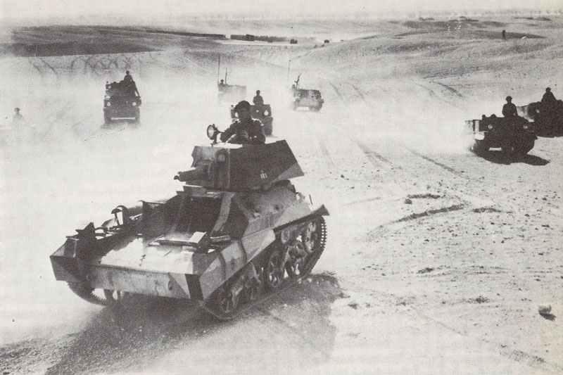 Exercise of light Vickers Mark IIA tanks