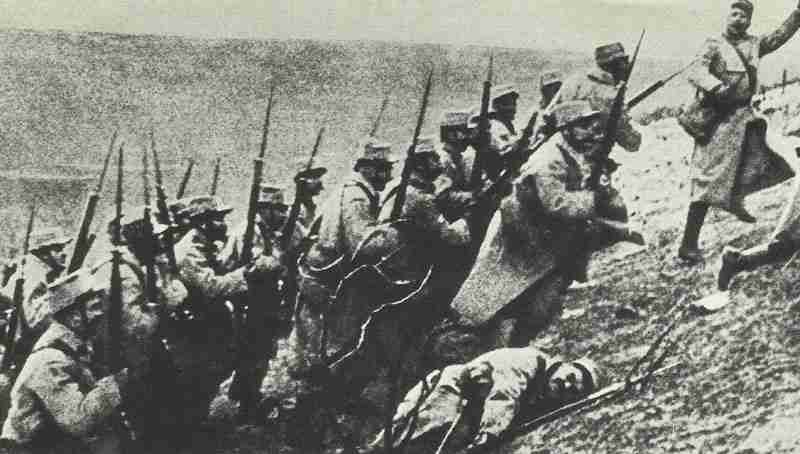 French infantry attack