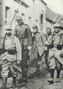 French soldiers with German POWs