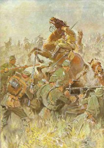 Destruction of the British cavalry brigade at Maubeuge