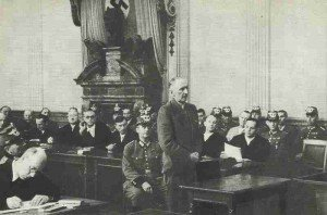 Field Marshal Erwin von Witzleben at the hearing at the People's Court