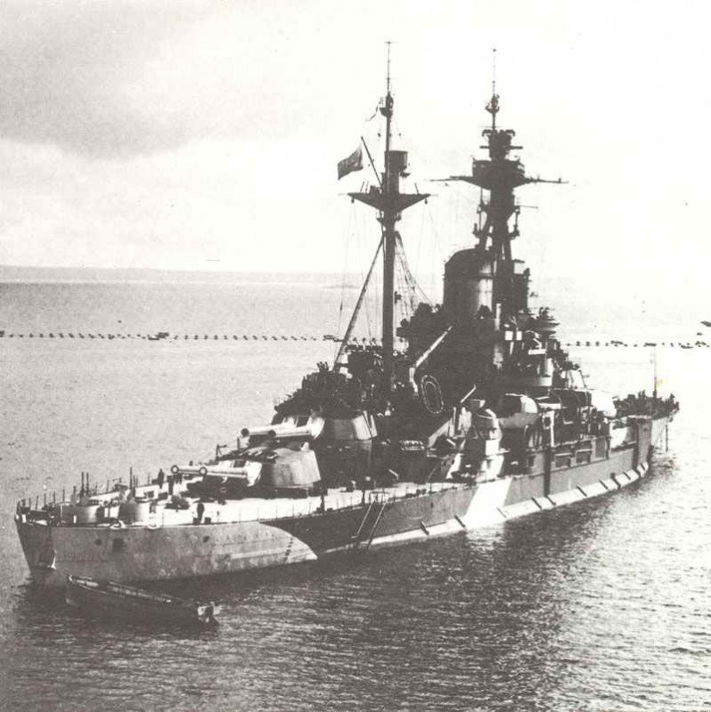 battleship Arkhangelsk in June 1944