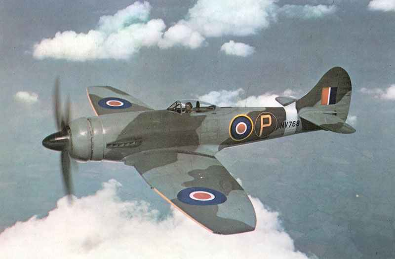 A fine color air to air picture from a Hawker Tempest Mk VI