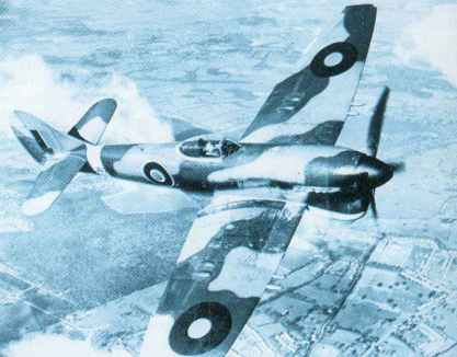 Test-flying of a production Hawker Tempest Mk V