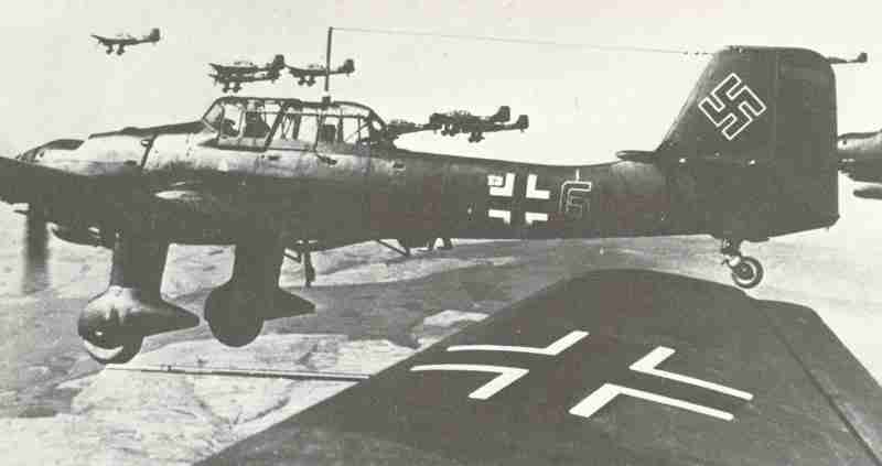 Ju 87B dive-bomber