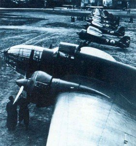 One of the first PLZ P37 bombers