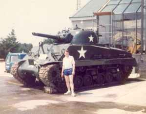 Sherman tank of the RAC Tank Museum