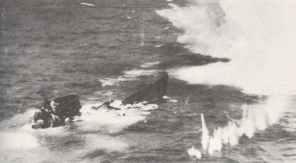 U-243 sinks under attack from a Sunderland flying boat
