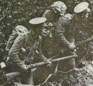 British infantrymen in Belgium