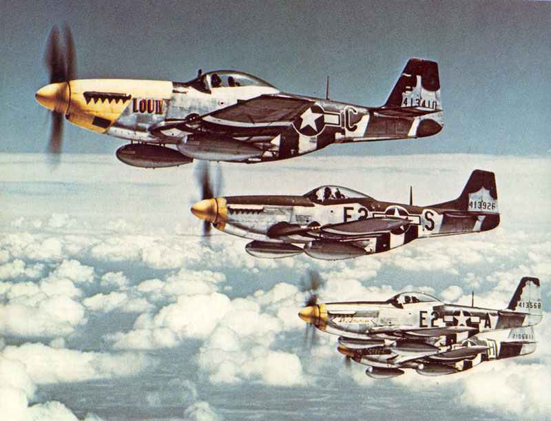 P-51 D Mustangs of the 8th Air Force