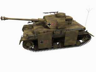 3d model of Panzer IV H