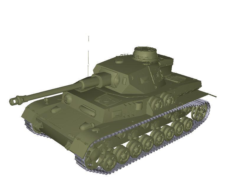 3d model of PzKpfw IV G