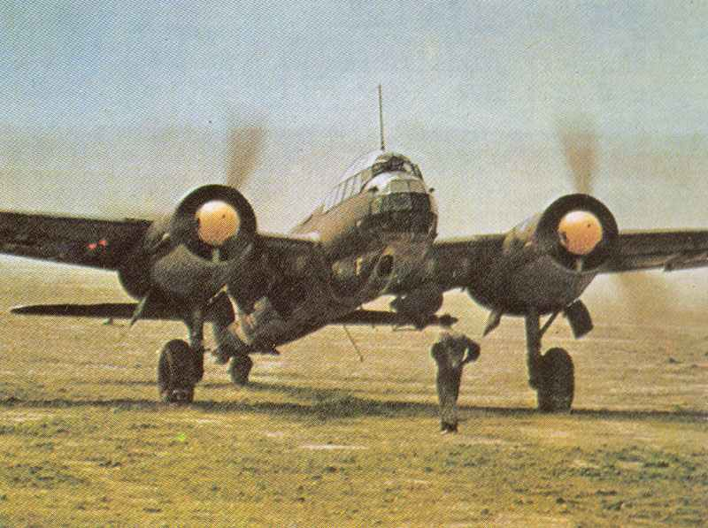 One of the first Ju 88 combat missions