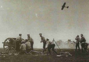Russian M1902 76.2mm field guns in action 1914