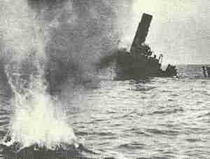 sinking merchantmen