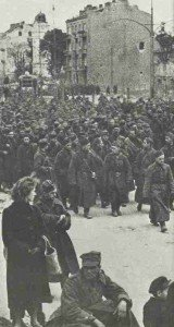 defenders of Warsaw are marching in captivity