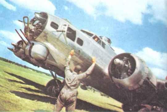 B-17 G on a British base