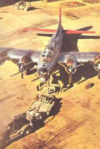 Bombing up a B-17G