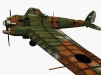 3d model of Heinkel He 111.